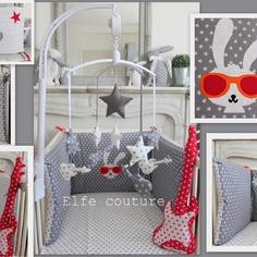 Chambre bébé rouge et gris - Idées de tricot gratuit