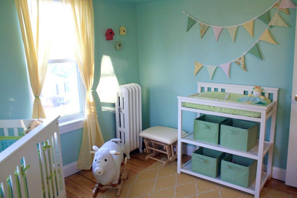 Chambre bébé vert jaune - Idées de tricot gratuit