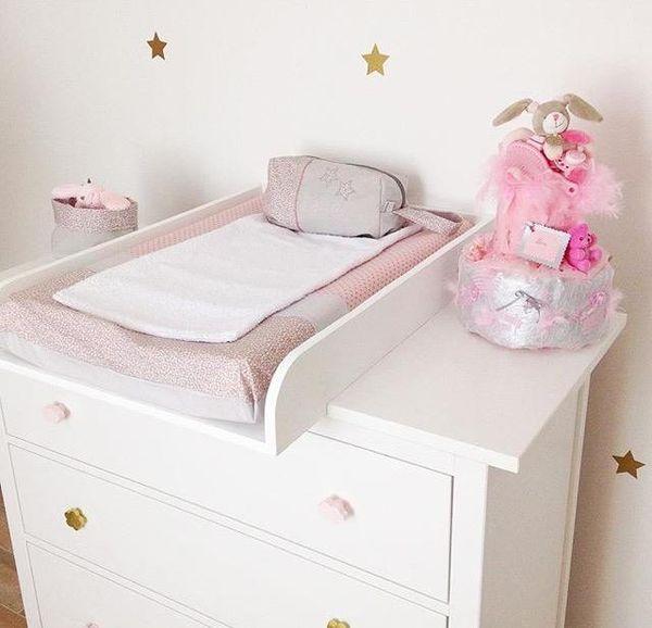 Chambre bébé fille rose poudré