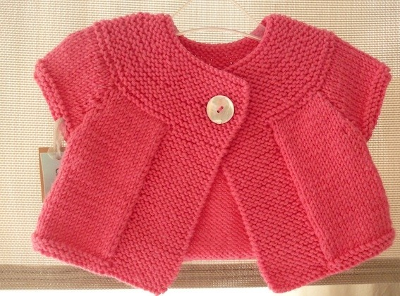 Modele gilet bebe fille a tricoter