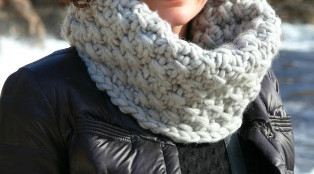 Tricoter un snood grosse maille