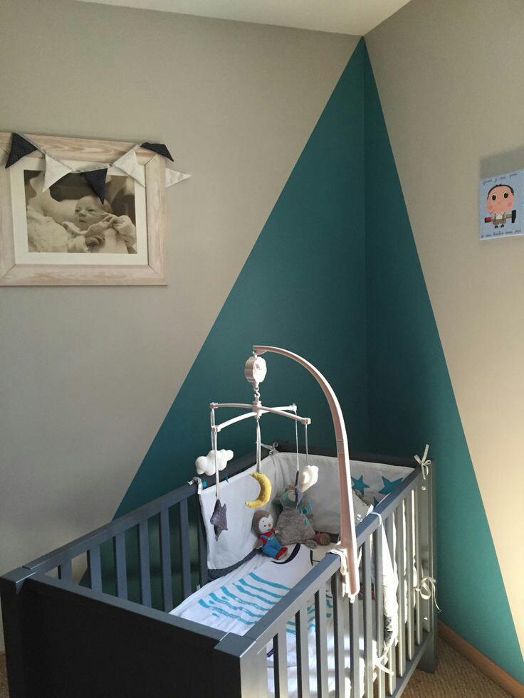 Chambre bébé garçon bleu et jaune - Idées de tricot gratuit
