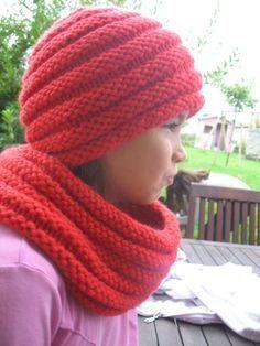 Tricoter un snood avec des aiguilles n°15