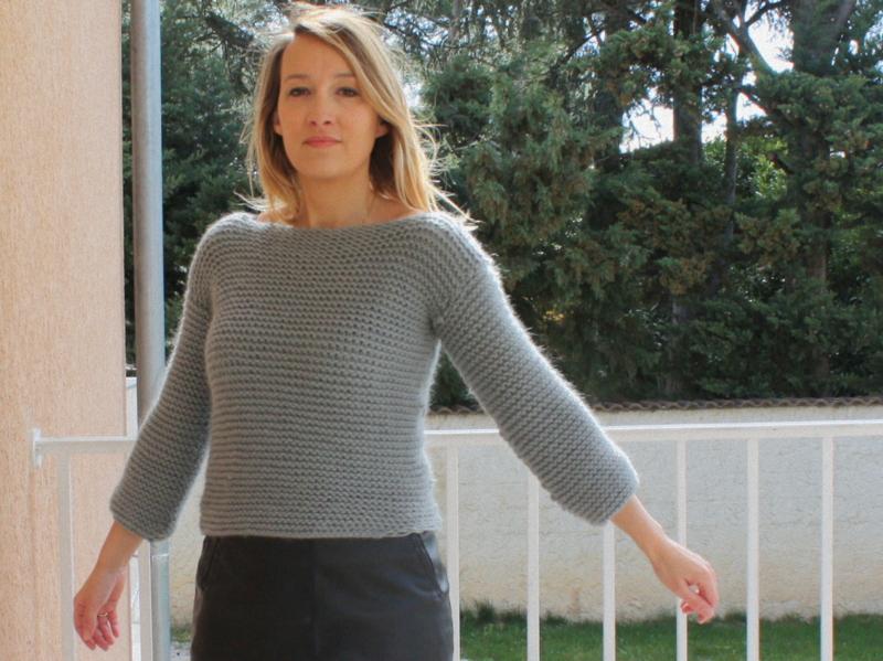 Modele tricot femme debutant