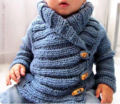 Tricoter gilet nourrisson