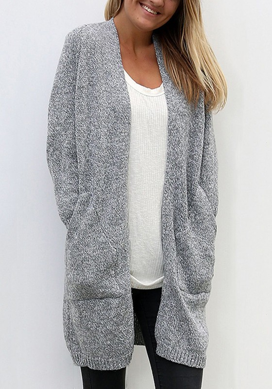Tricot gilet ample