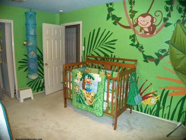 Chambre bébé garçon jungle