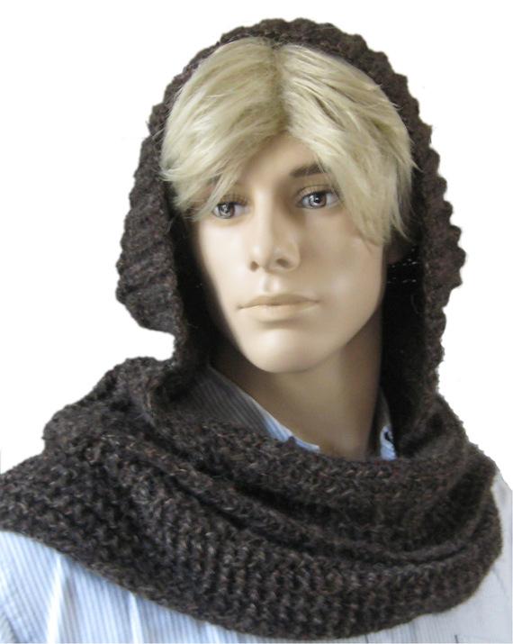 ced11a0215a5 Tricot echarpe capuche - Idées de tricot gratuit