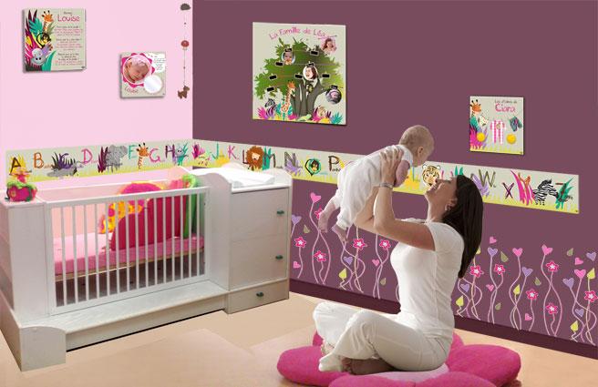 Chambre bébé fille jungle - Idées de tricot gratuit