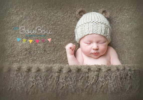 Tricot bonnet oreilles bebe - Idées de tricot gratuit f6e7300983f