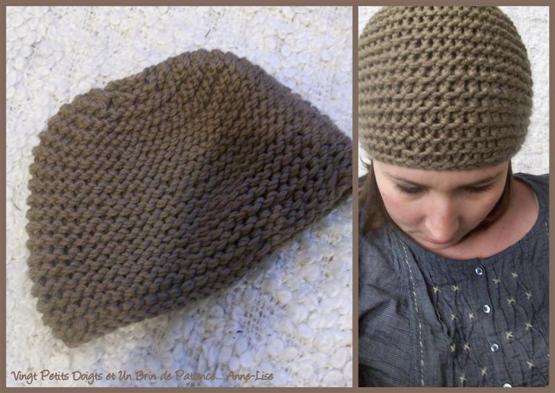 Tricoter bonnet femme point mousse - Idées de tricot gratuit d2eb5745620