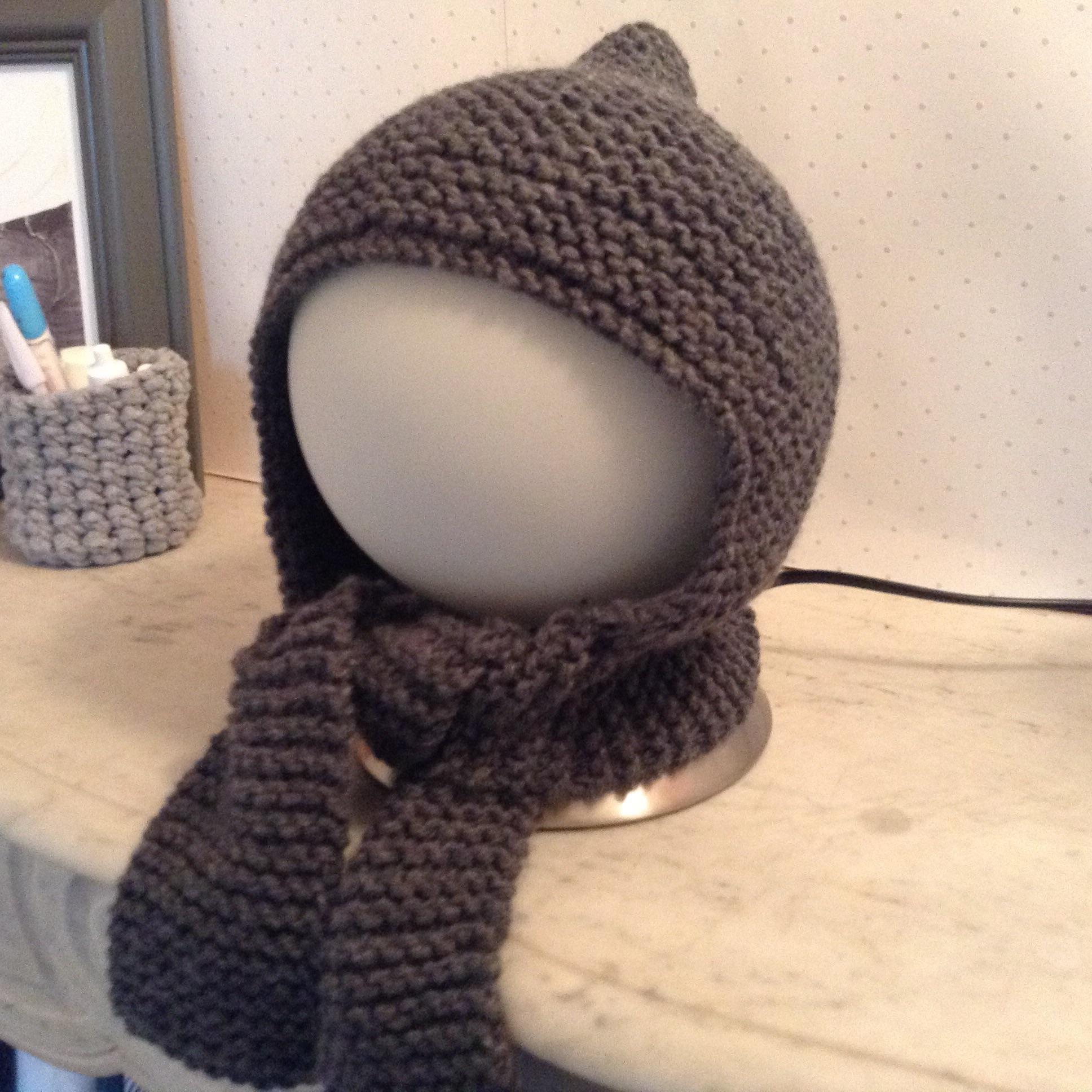 6671f4271dc1 Tricoter un bonnet bébé au point mousse - Idées de tricot gratuit