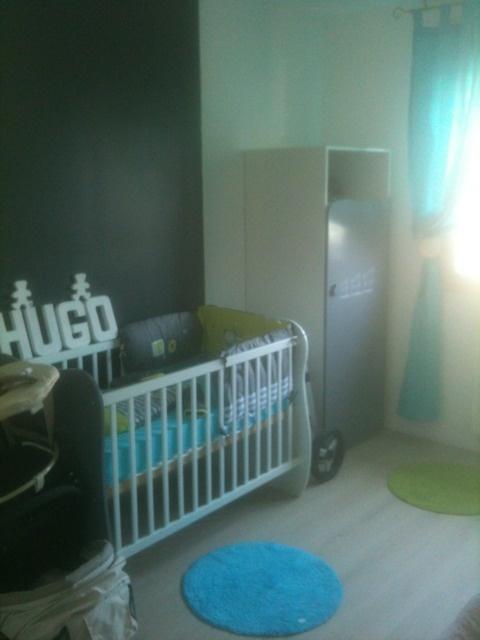 Chambre bébé turquoise et taupe - Idées de tricot gratuit