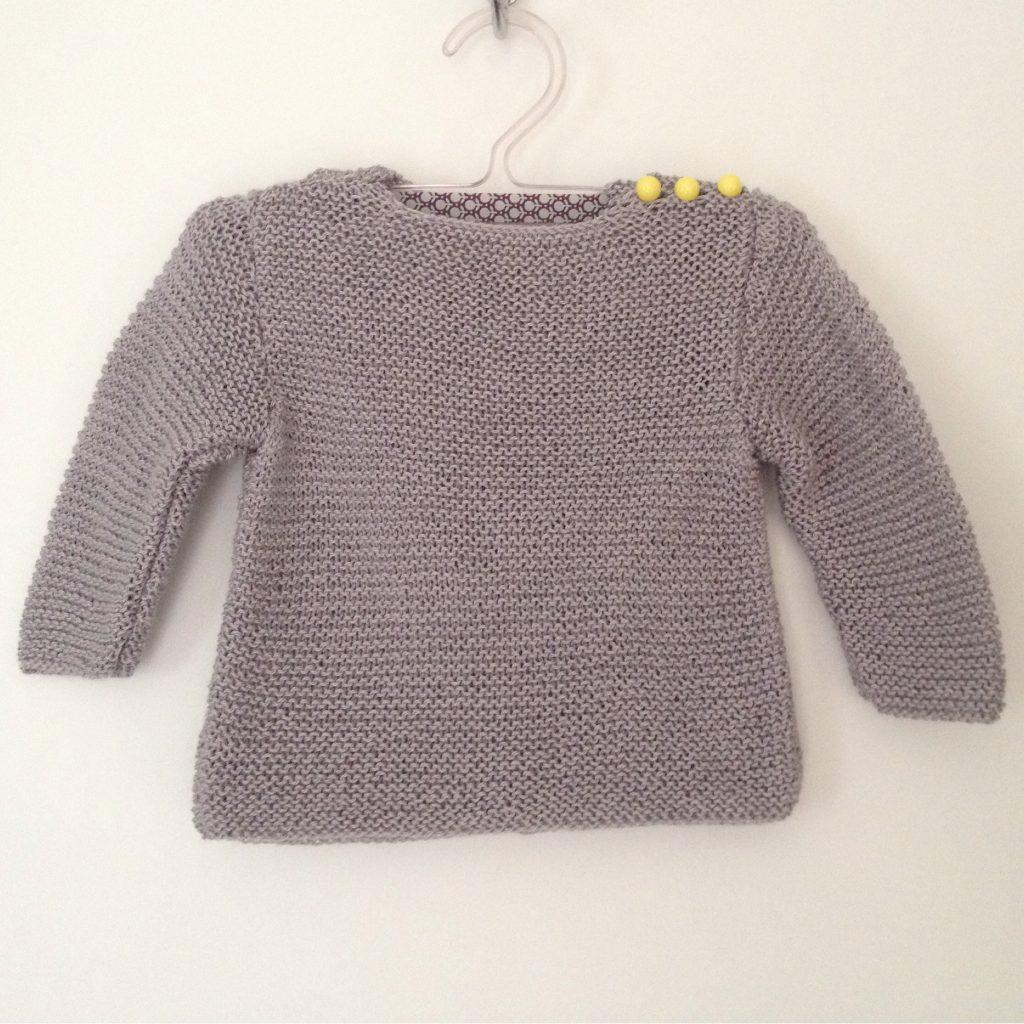 Tricot pull bébé 3 mois - Idées de tricot gratuit