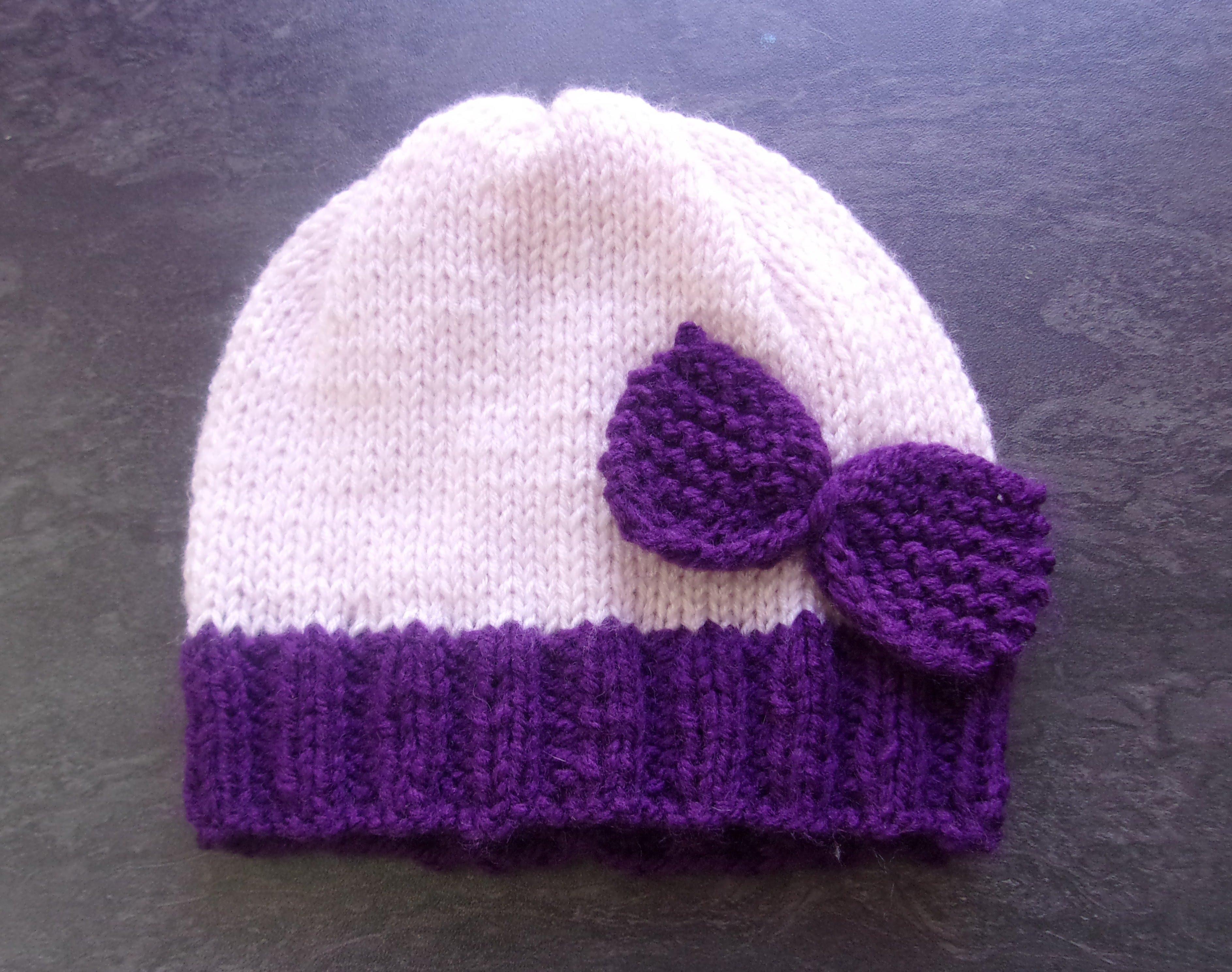 a0828de8939 Tricot bonnet naissance facile - Idées de tricot gratuit