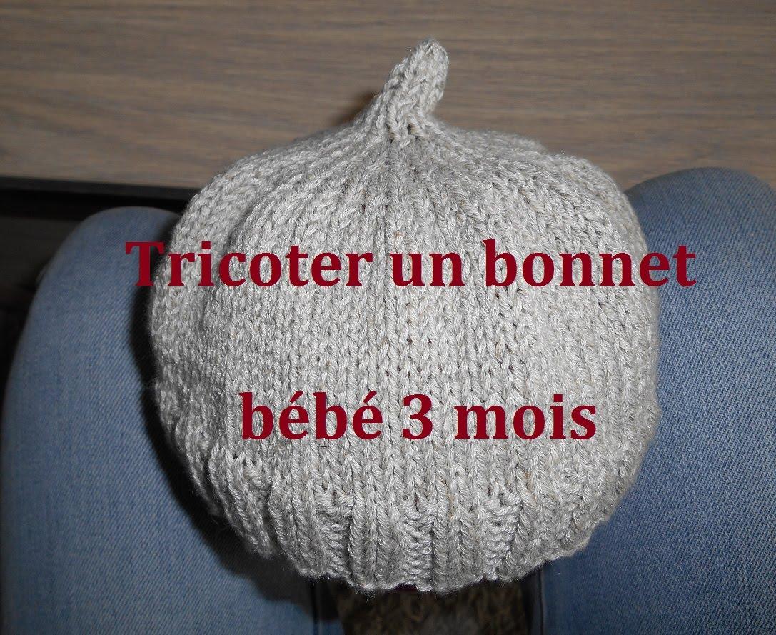 Tricot bonnet bébé 6 mois facile - Idées de tricot gratuit 330faf39a9f