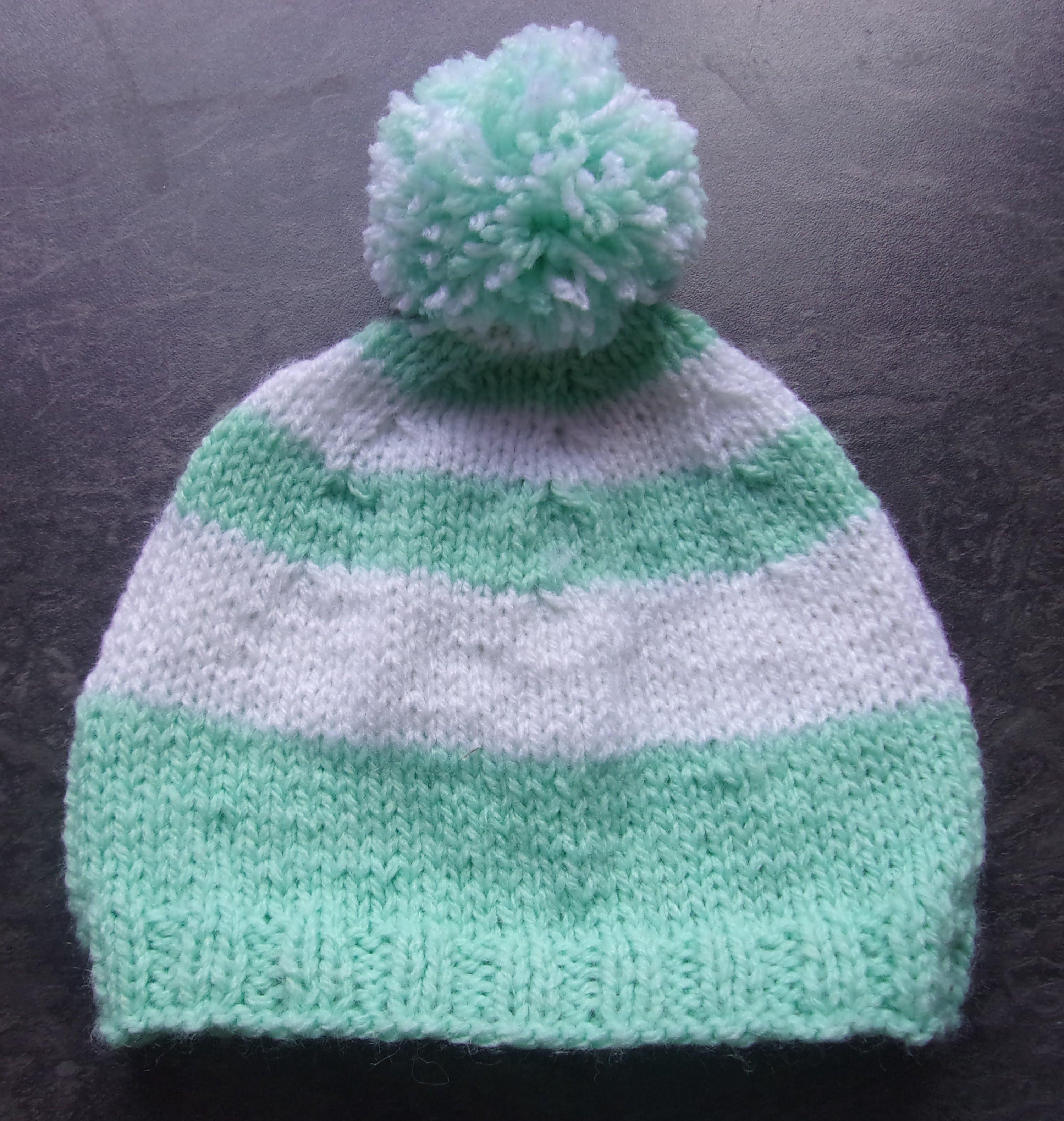 Tuto tricot bonnet bébé 3 mois