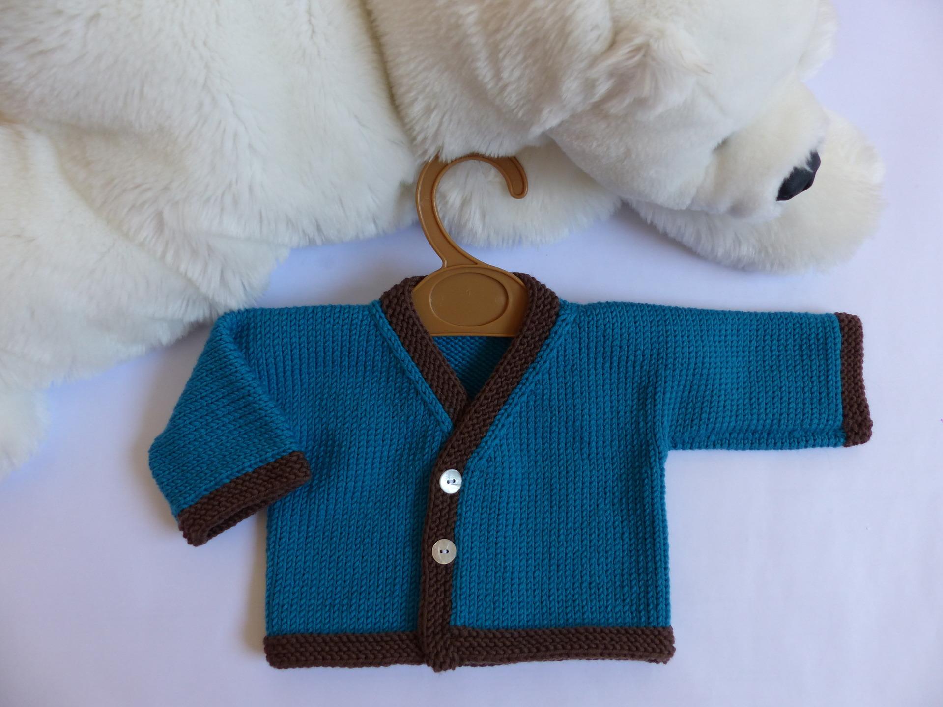 Brassiere bebe garcon tricot