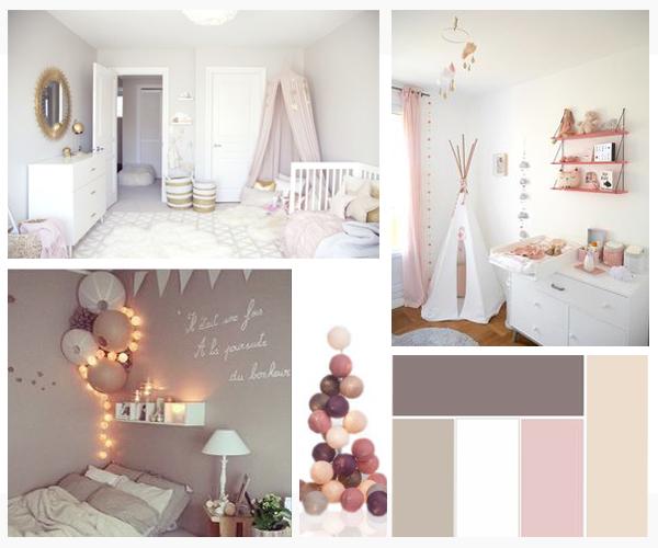 Chambre b b fille rose et beige id es de tricot gratuit - Deco chambre bebe rose ...