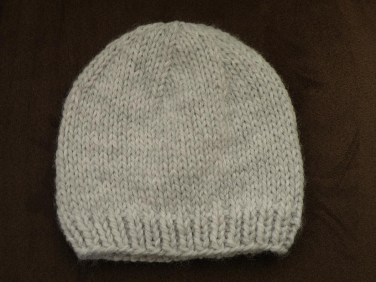 Tricoter un bonnet aiguille n ° 6