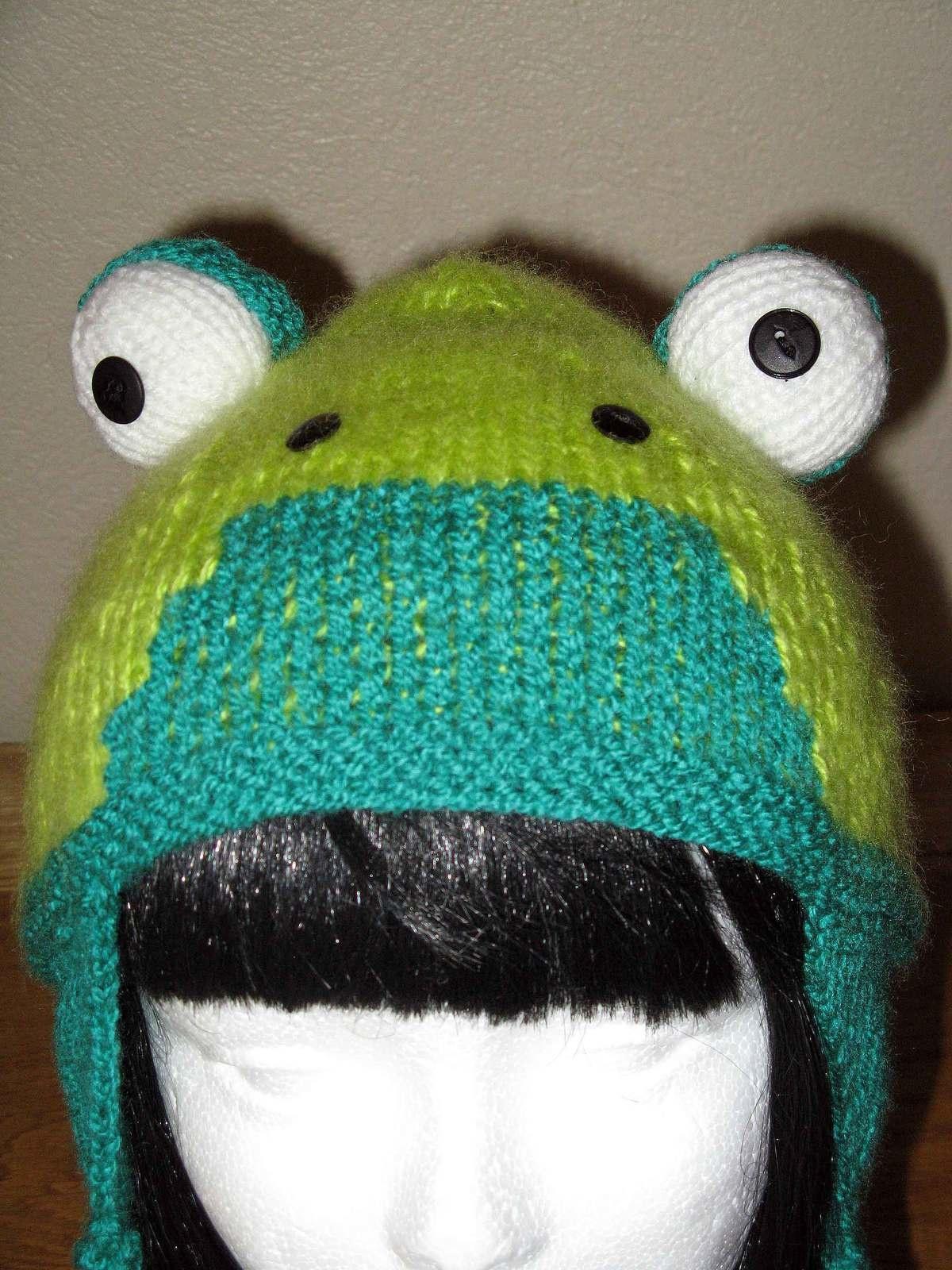 Tricot bonnet grenouille