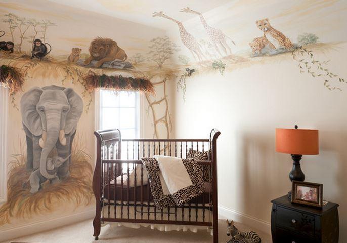 Chambre bébé safari