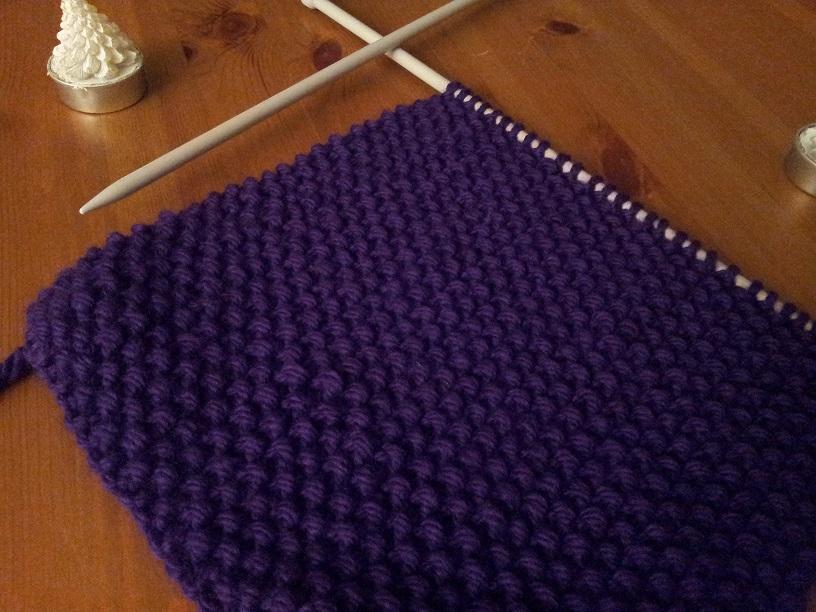 Comment tricoter un snood au point de riz