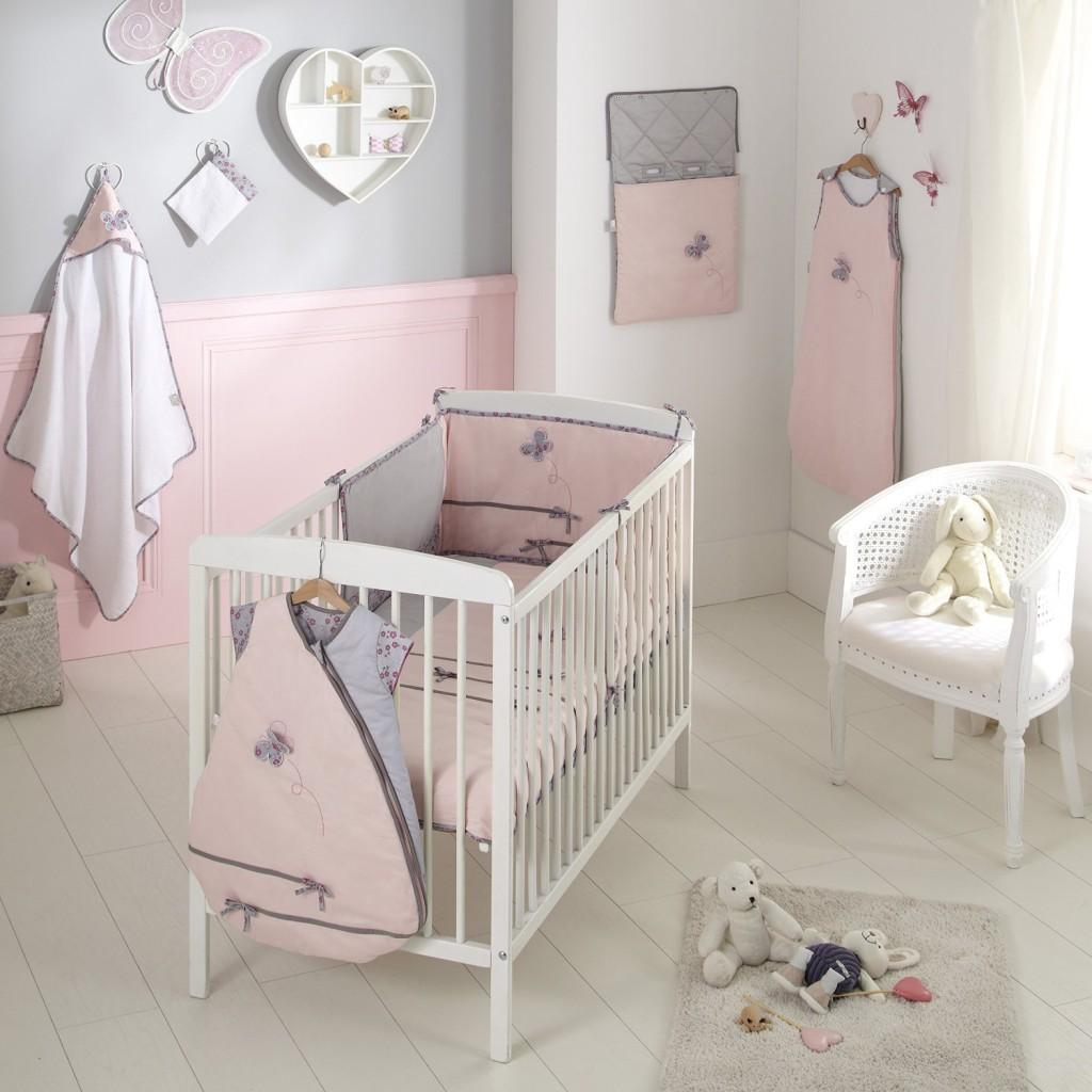 Chambre bebe rose blanc gris - Idées de tricot gratuit