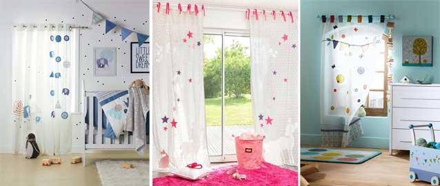 Rideau chambre bébé mixte - Idées de tricot gratuit