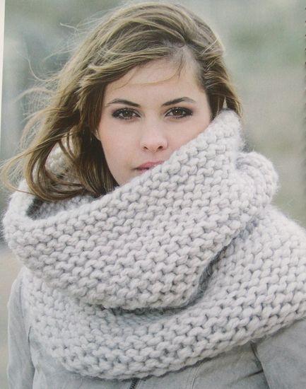 9175ab373c9f Tricoter un snood long - Idées de tricot gratuit