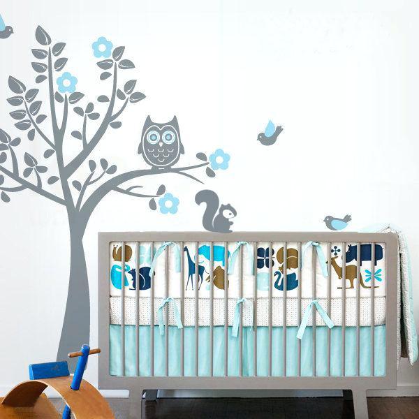 Stickers chambre bébé garcon arbre - Idées de tricot gratuit