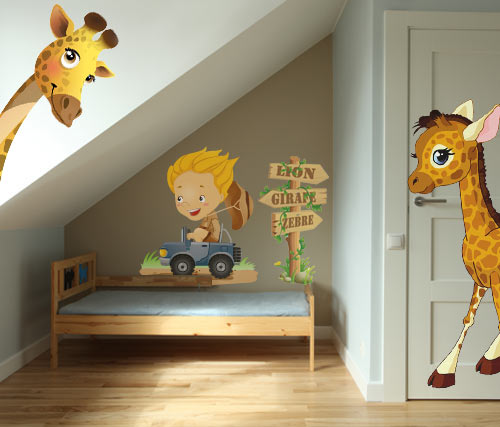 Stickers Chambre Bebe Garcon Jungle - onestopcolorado.com -