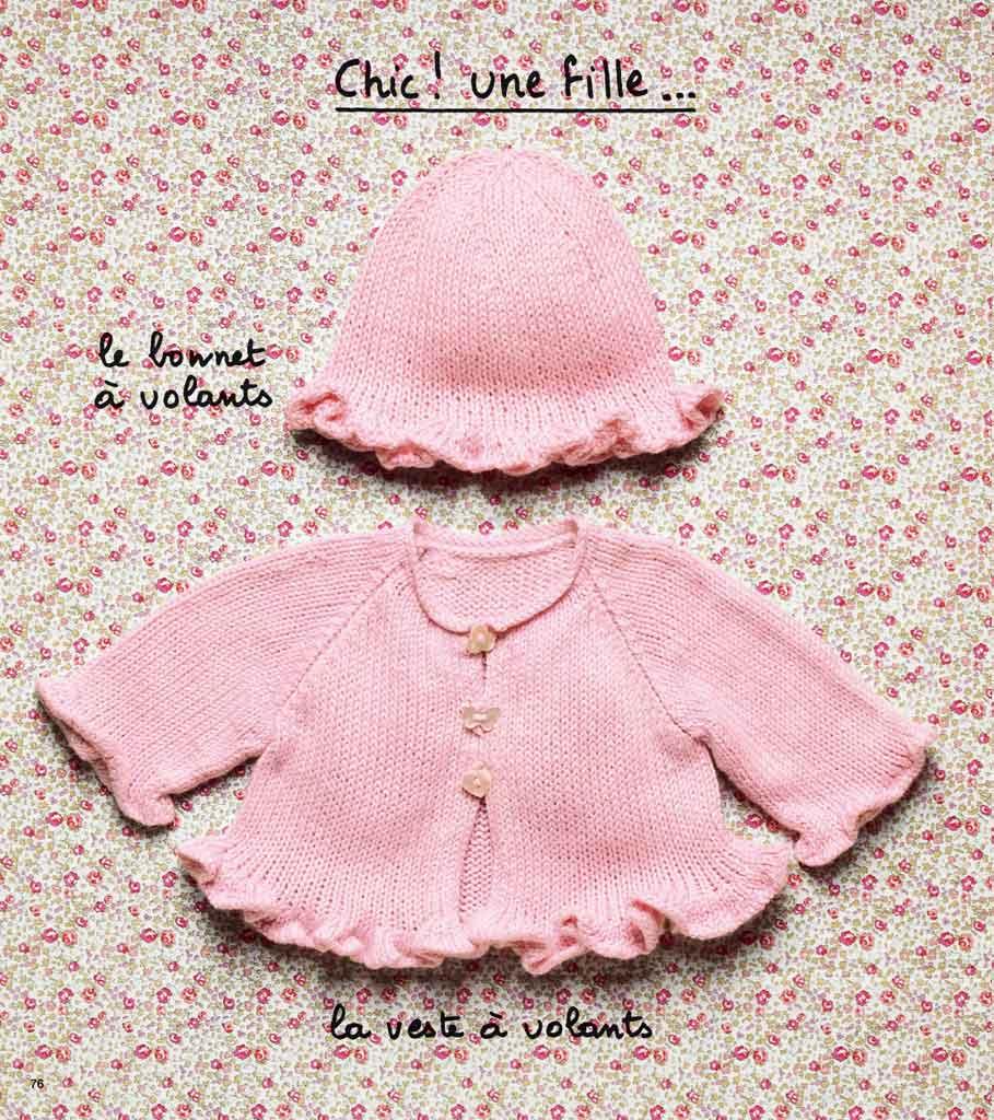 ca3e42159a27f Layette tricot fille - Idées de tricot gratuit