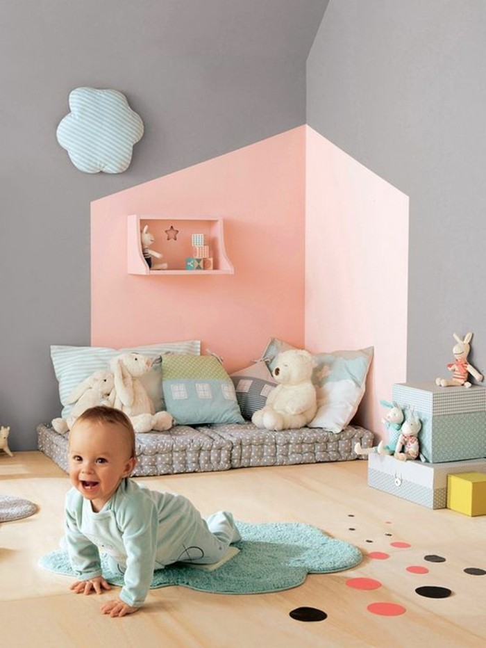 Couleur mur chambre b b gar on id es de tricot gratuit - Couleur mur chambre bebe ...