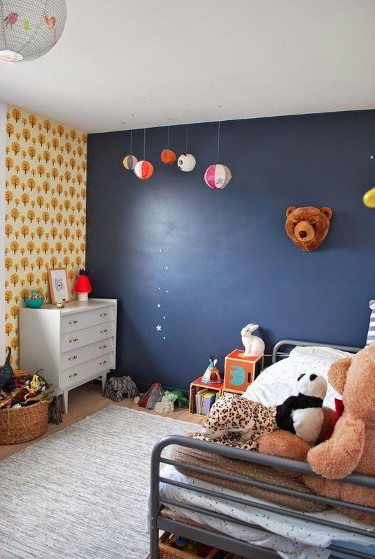Papier peint arbre chambre bébé