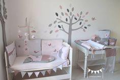 Chambre bébé fille parme et gris - Idées de tricot gratuit