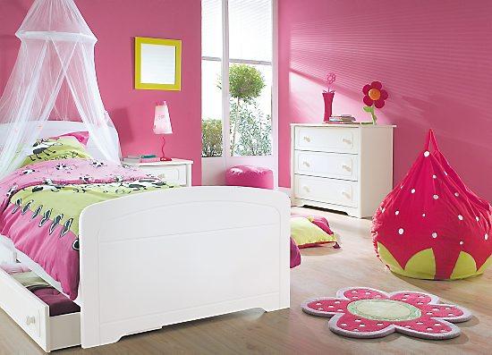 Chambre bebe fille rose vert