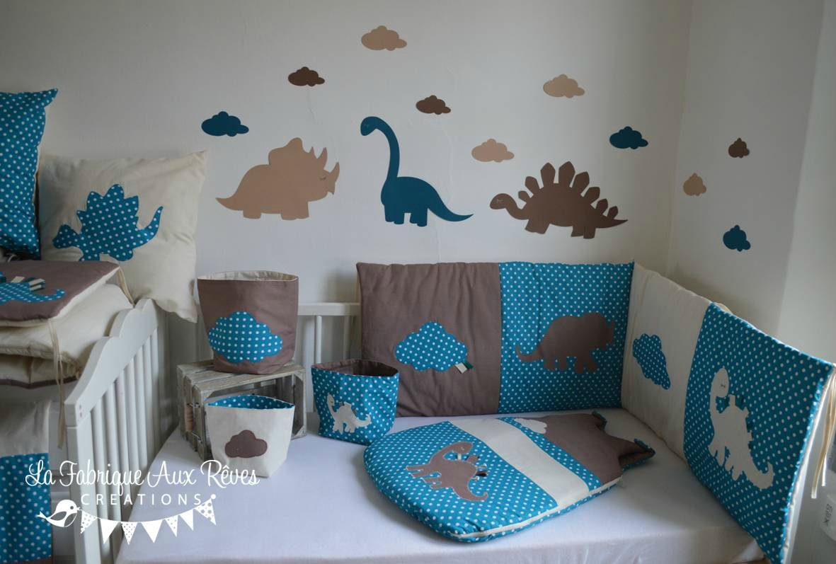 Agreable Deco Chambre Bebe Turquoise Chocolat
