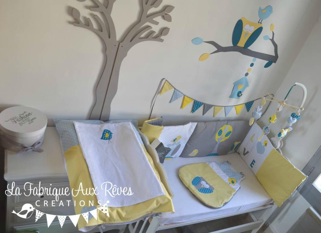 Chambre bébé gris jaune vert - Idées de tricot gratuit
