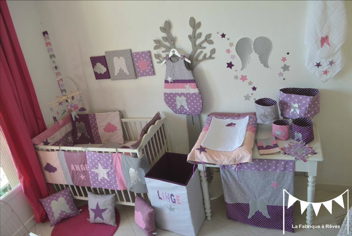 Chambre de bébé fille mauve - Idées de tricot gratuit