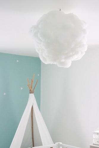 Suspension chambre bébé nuage