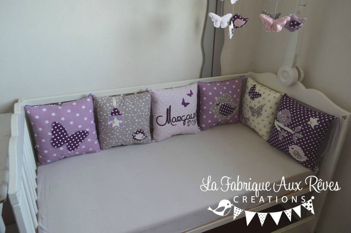 Chambre bébé prune et rose - Idées de tricot gratuit