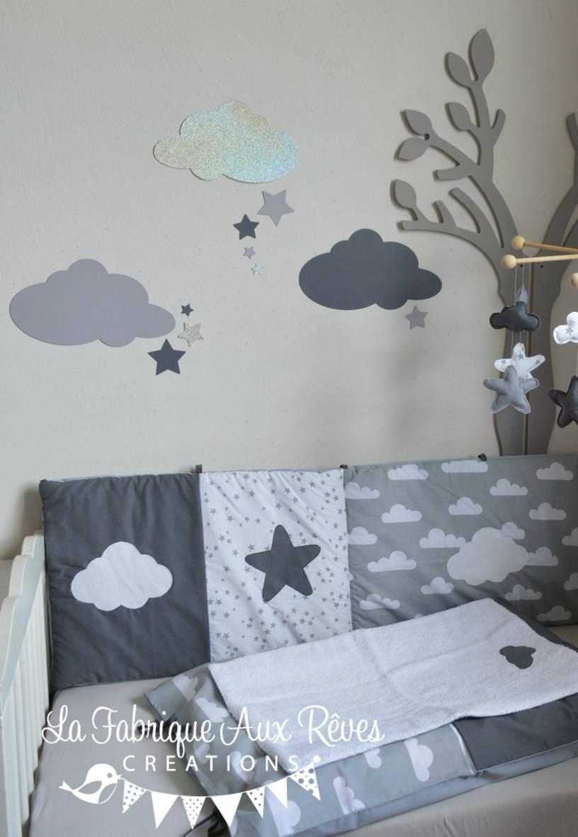 Stickers chambre bebe nuage etoile - Idées de tricot gratuit