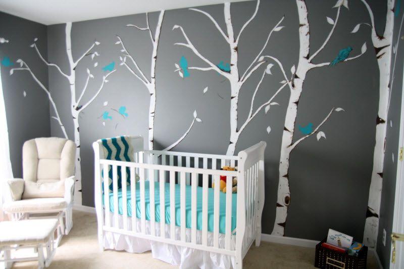 Stickers chambre bébé gris blanc - Idées de tricot gratuit