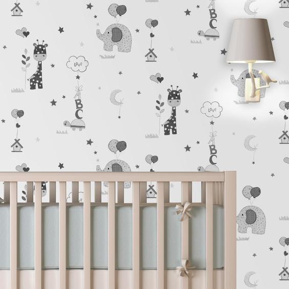 Papier peint noir et blanc chambre bebe - Idées de tricot gratuit