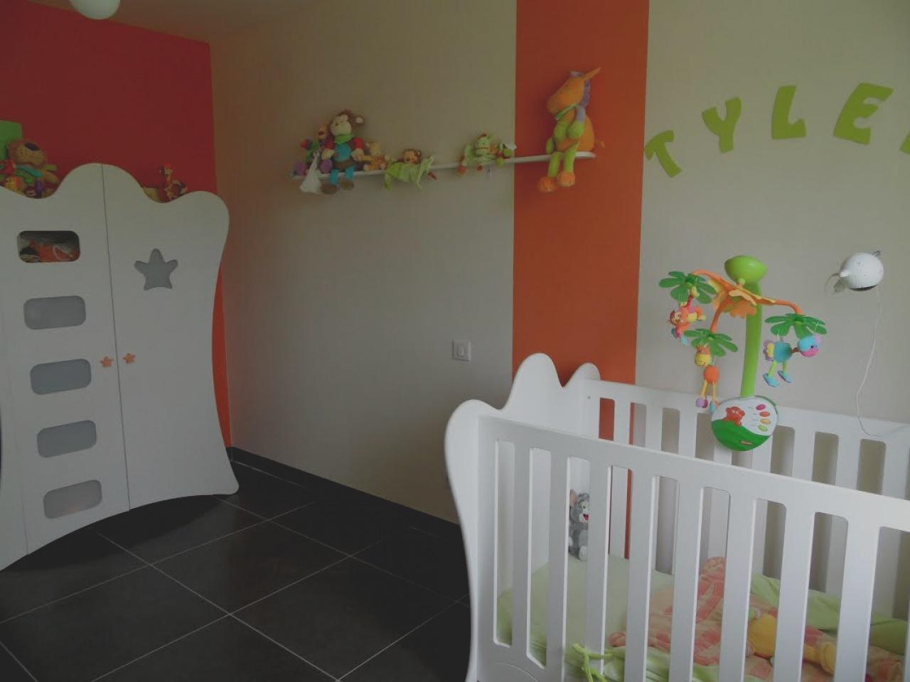 Chambre Bébé Orange Et Blanc