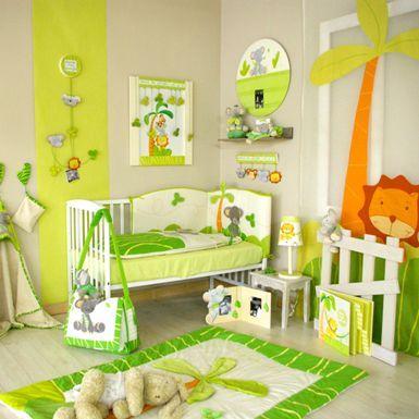 Idée déco chambre bébé jungle