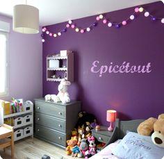 Deco chambre petite fille rose et mauve - Idées de tricot gratuit