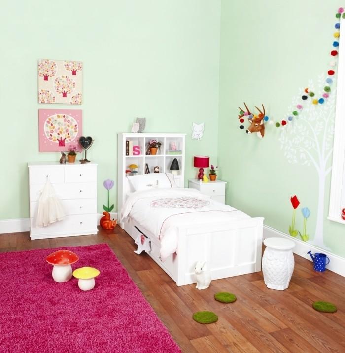 Chambre Bebe Fille Vert Rose Idees De Tricot Gratuit