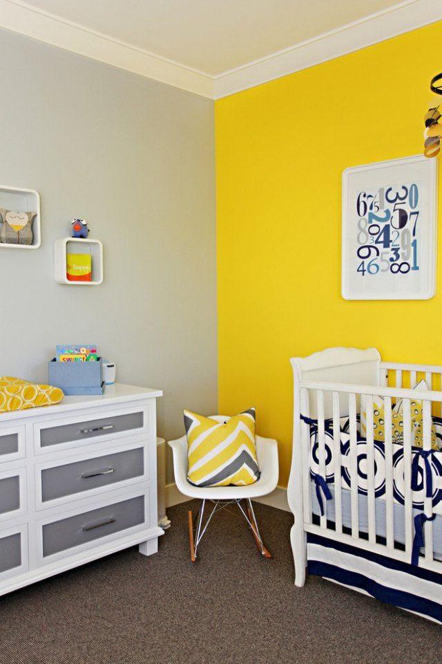 Peinture orange chambre bebe